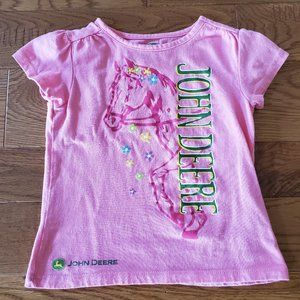 Pink John Deere Horse Shirt